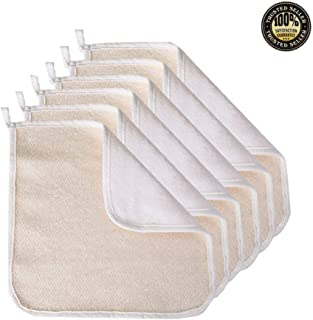 6 Pack Exfoliating Face Body Wash Cloth Towel, Soft-Weave Scrub Towel Cloth Beauty Skin Home Massage Bath Cloth for Skin Care, Shower Scrubber, Remove Dead Skin(Exfoliating Side and Soft Terry Side Cloth)