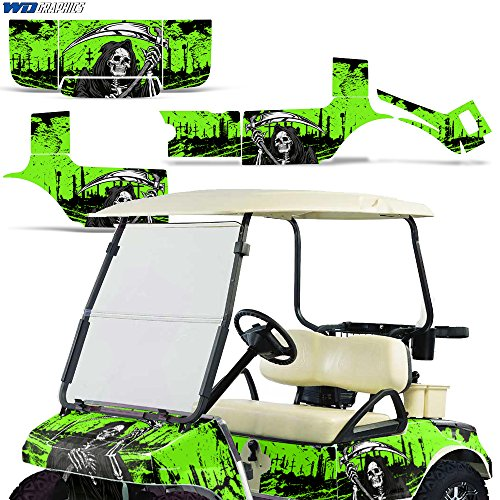 Club Car Golf Cart 1983-2014 Graphic Kit Decal Sticker Wrap Accessories Parts REAPER GREEN