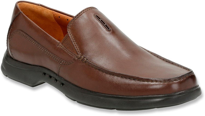 Clarks herrar Un.Easley Twin Loafer, Dark Dark Dark bspringaaa läder, US 10.5 M  till grossist