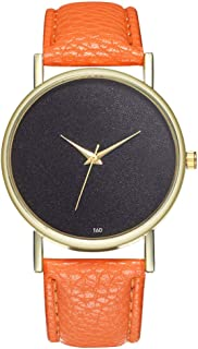 Female Watch for Small Wrist,Women Watches,Ladies Wrist Watches on Clearance,Stainless Steel Watches for Women,Dress Watches (Orange)