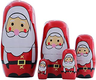 Nstcher Christmas Wooden Doll Children's Gift Matryoshka Doll Decoration Supplies
