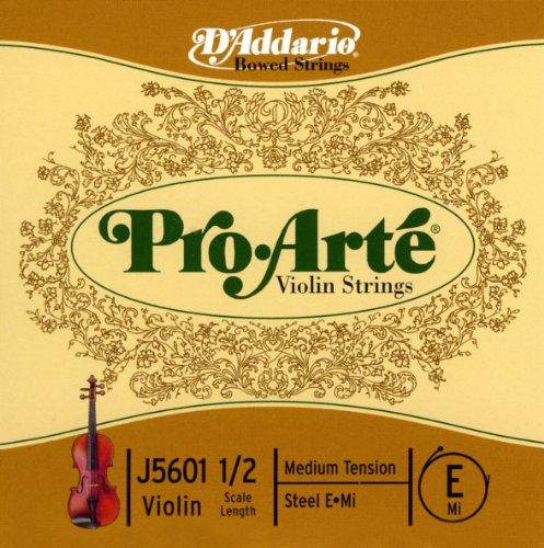 D'Addario J5601 1/2M - Cuerda para violín en Mi, 1/2 (tensión media)