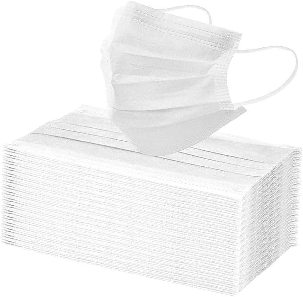 Lulupi 100 St/ück Mundschutz Multifunktionstuch Atmungsaktiv Einweg Mund und Nasenschutz 3-lagig Staubdicht Elastisch Loops Halstuch Outdoor Gesicht Schild
