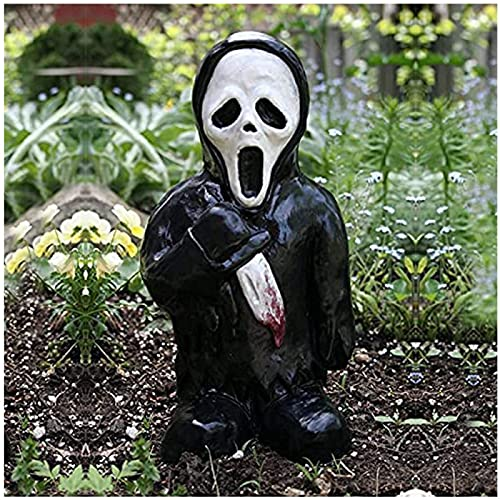 CHENGRR Horror Garden Gnomes, 5.9 Inch Zombie Gnomes - Used for Home Outdoor Lawn Courtyard Courtyard Horror Movie Garden Gnome