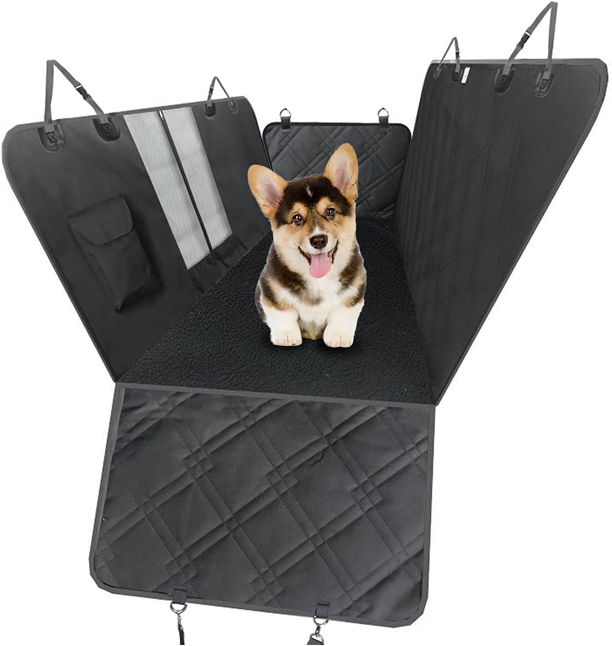 ELEGX Dog Car Seat Cover Omaha Mall SEAL limited product with Soft Hammock 600D Mesh Window