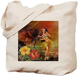 CafePress Passion Flower Hawaii Hula Dancer Natural Canvas Tote Bag, Reusable Shopping Bag