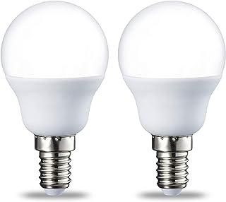 comprar comparacion AmazonBasics Bombilla LED E14, P45, 5.5W (equivalente a 40W), Blanco Cálido- 2 unidades