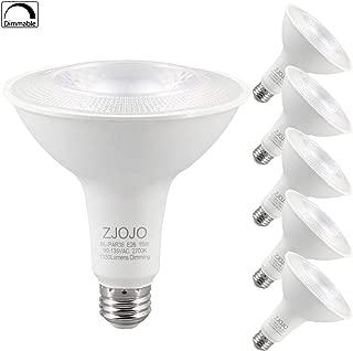 PAR38 LED Bulb Dimmable, 15W(100W Equiv), 2700K (Warm White), 1350 lumens, CRI 90+, Flood Light Bulb, E26 Base, UL - Great for Living Room, Bedroom, Kitchen 27W15WHZ 6pack