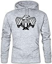 Justice Department Logo I Hoodie Hooded Sweatshirt Sweater - Judge One Comic Mega Dredd DEPT City Eagle
