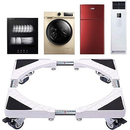 Base de Machine à Laver Réglable 45cm-70cm Support Charge 200 kg Réduction du Bruit Effet pour Réfrigérateur/Machine à Laver/Sèche-linge