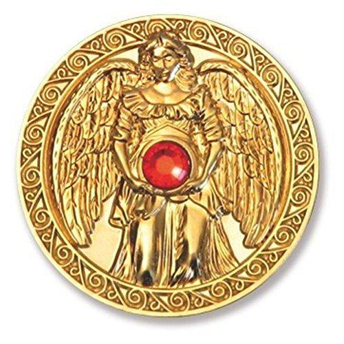 Glücksmünze Engeltaler Liebe, Schutzengel Engel Taler 24kt vergoldet mit Swarovski Elements, Glücksbringer Talisman Schutzsymbol