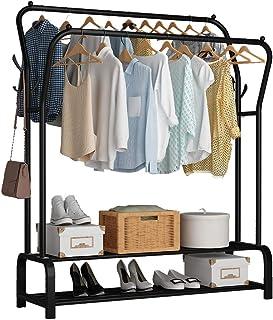 UDEAR Porte Vêtement sur Pied Cintre Tiges Doubles Chambre multifonctionnelle Portant à Vêtements, Double Couche , 8 Croch...