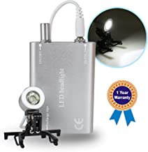 Denshine Portable Head Light Lamp for Dental Surgical Medical Binocular Loupe - Silver