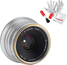 7artisans 25mm F1.8 Manual Focus Prime Fixed Lens for Olympus and Panasonic Micro Four Thirds MFT M4/3 Cameras - Silver