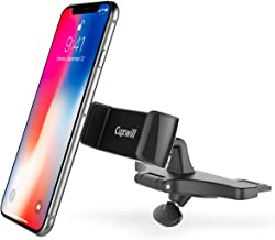 CD Slot Car Mount, Cuxwill Universal CD-Slot Car Phone Holder with One Hand Operation Design for iPhone X/XR/XS/8/7/6/6S/ and Other Smartphones