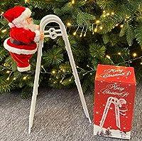 クリスマスオーナメント クリスマス 飾り オーナメント チャーム装飾パーツ 階段を上るサンタクロース クリスマスツリー装飾品 クリスマスパーティー飾り デコレーション クリスマスツリー装飾