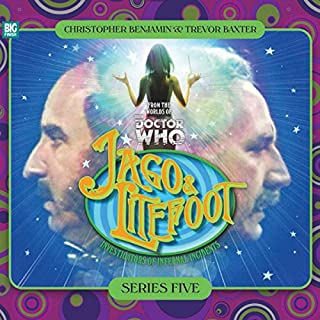 Jago & Litefoot Series 5                   By:                                                                                                                                 Jonathan Morris,                                                                                        Marc Platt,                                                                                        Colin Brake,                   and others                          Narrated by:                                                                                                                                 Christopher Benjamin,                                                                                        Trevor Baxter,                                                                                        Lisa Bowerman,                   and others                 Length: 5 hrs and 11 mins     30 ratings     Overall 4.9