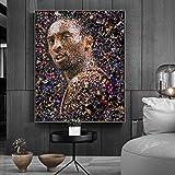 UIOLK Gran Jugador de Baloncesto ídolo Kobe Bryant 24 póster decoración para Sala de Estar Pintura Lienzo Pintura Arte de la Pared fanáticos decoración del hogar