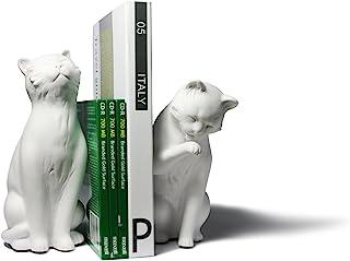 Danya B. Cat Bookend Set, White