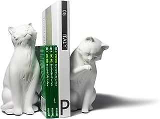 Danya B Cat Bookend Set - White