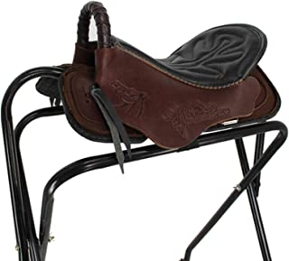 Saddle Full Harness Saddle Pony Knight Equestrian Leather Jumping Horse Saddle Starter Package Set,Coffee