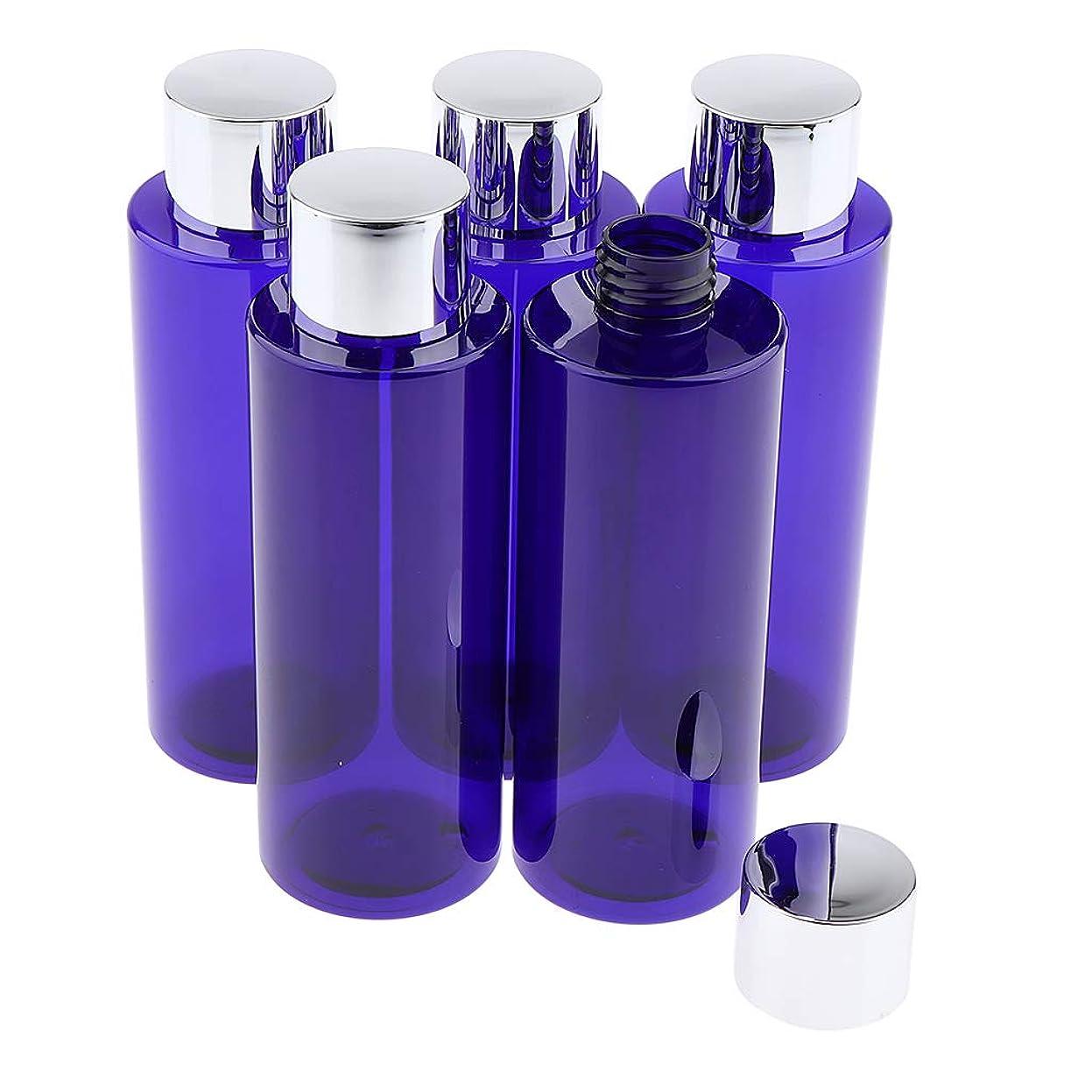 緊張感覚スカープB Blesiya 5本 コスメ 詰替え容器 メイクアップボトル クリーム ローション 旅行小物 3サイズ選べ - 200ML