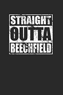 Straight Outta Beechfield 120 Page Notebook Lined Journal