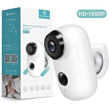 Openuye Caméra De Surveillance Avec Batterie Rechargeable Caméra Ip Sans Fil D