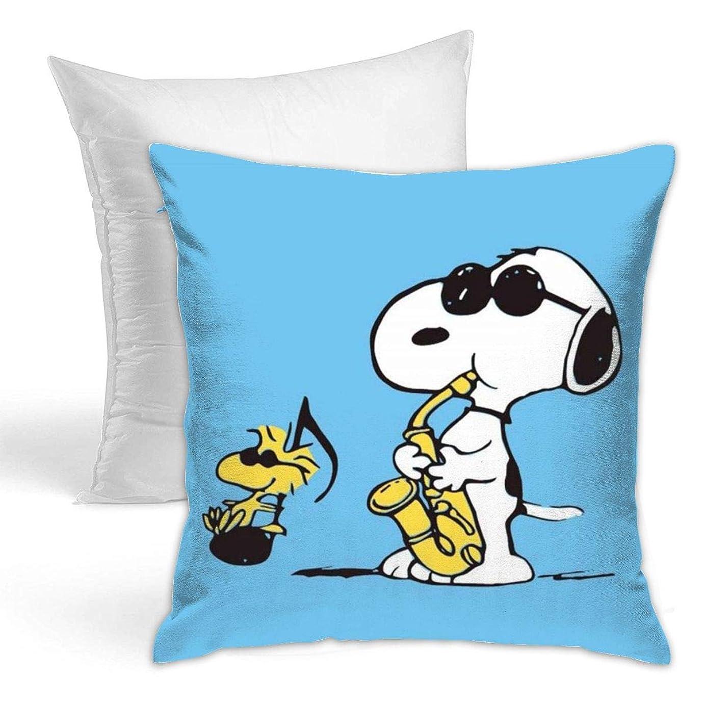 不誠実肥料故国Snoopy 装飾枕両面タイプ 抱き枕 ソファ 抱き枕 装飾 クリスマス枕 座布団 スロー枕 インテリア 装飾的な枕 42 X 42cm