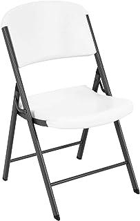 كرسي قابل للطي من لايف تايم 22804 كلاسيك تجاري، جرانيت أبيض، عبوة واحدة