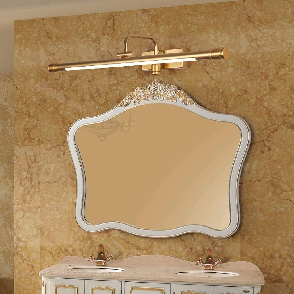 & Spiegellampen Spiegelleuchte vorne - LED-Spiegelleuchte für das Bad Ankleidezimmer Spiegelleuchte für das Bad Einfache nordische Make-up-Lampe (Size : 53cm) 53cm