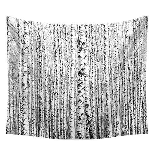Xmiral Tapestries Picknickdecke Strandtücher 150cm X 200cm Wald Pflanze Landschaft Wandtuch Yogamatte(F)
