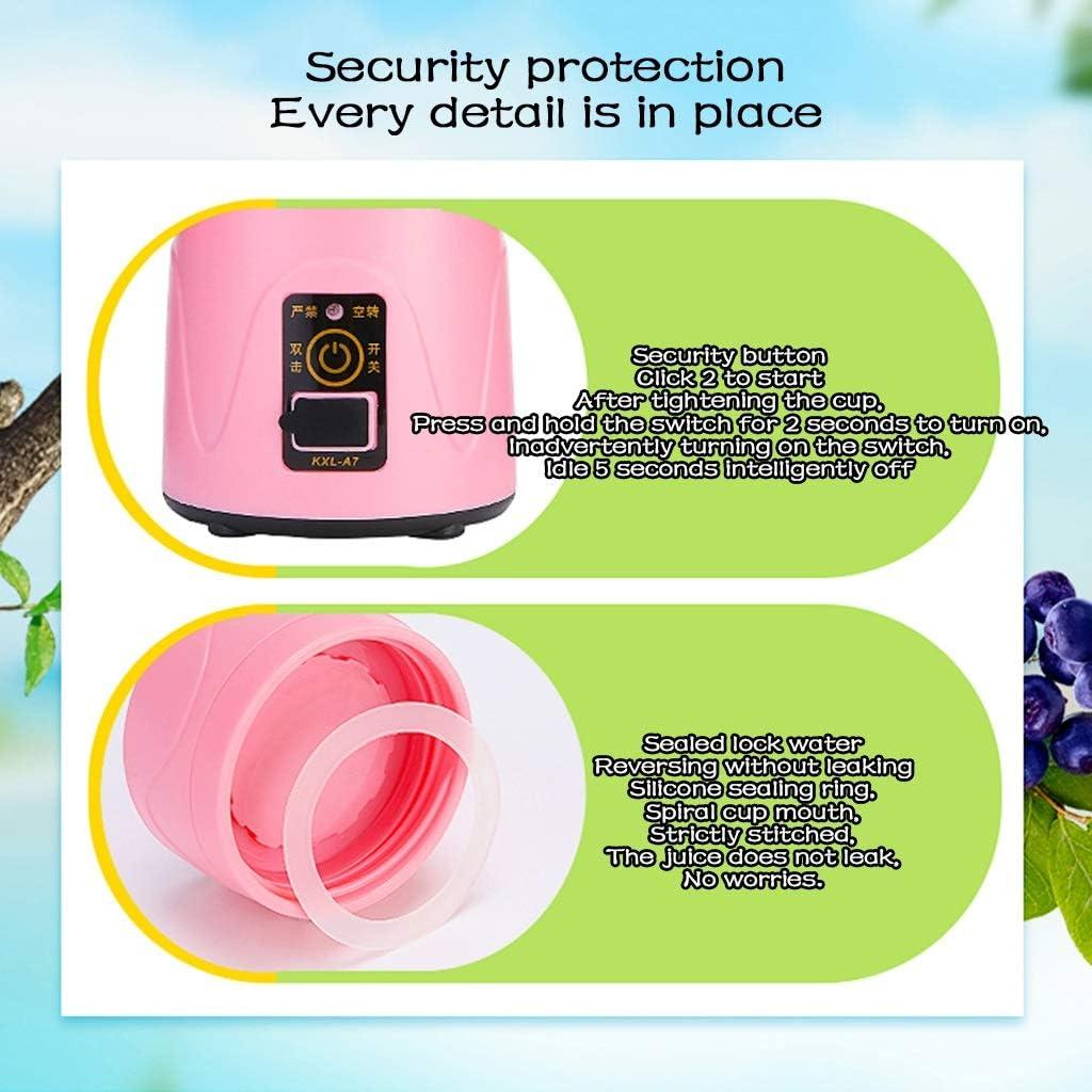 LIU UK Juicer Minisap-mengmachine, comfortabele zand-ijs-mengmachine, afneembare schaal, 420 ml voor eenvoudig dragen, perfecte mengmachine voor persoonlijk gebruik paars