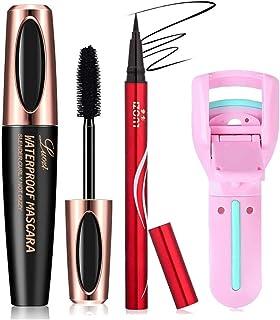 Sponsored Ad - Black Mascara Fiber Lashs Volume and Length wih Liquid Eyeliner Pencil Thin Tip,Long-Lasting Waterproof,Eye...