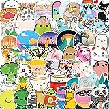 HUNSHA 50 Cartoon-Tier-Aufkleber für Handy, Wasserbecher, Notebook, Koffer, wasserdicht, Graffiti-Aufkleber