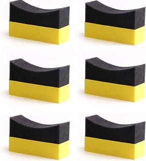 پد براق کننده کانتور لاستیک Autone 6Pcs لاستیک براق رنگ درخشش موم اسفنجی