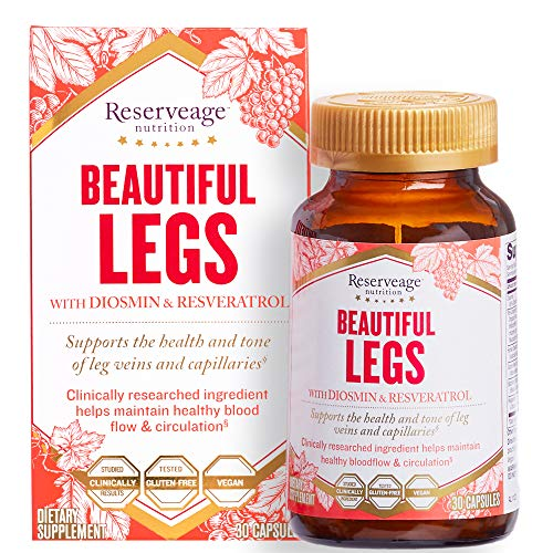 Reserveage, Beautiful Legs, Skin Care Supplement for Smooth, Healthy Veins, Helps Reduce Spider Veins, Vegan, 30 capsules (30 servings)