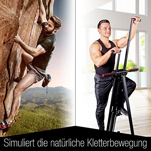 Sportstech innovativer 2in1 Stepper & Vertical Climber Fitness VC300 mit Anti-Rutsch Design & Faltsystem - 4