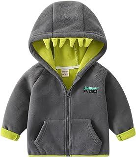Sudadera con Capucha para Bebé Niños Vellón Chaquetas Invierno Abrigos Primavera/Otoño Cremallera Cárdigan Suéter Outwear