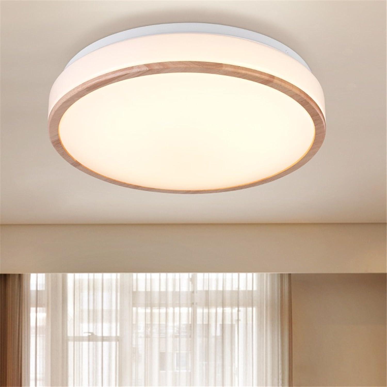 SJUN Holzleuchten Schlafzimmer Moderne Minimalistischen Wohnzimmer-Leuchten LED-Decke