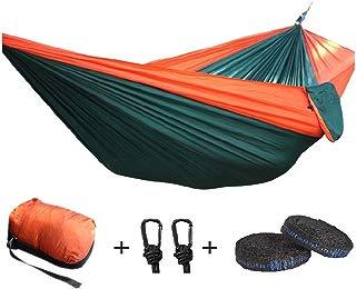 "Efaithtek Portable Double Camping Hammock,Parachute Nylon Hammock with Hammock Tree Straps for Backpacking, Travel, Beach, Yard .118""(L) x 78""(W)"
