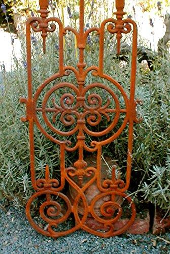 Antikas - Jugendstil Gitter als Balkongitter, Treppen Balkon Geländer, Treppenstäbe, Zaun