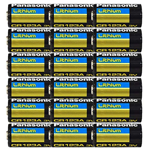 Panasonic Lithium CR123A 3V Photo Lithium Battery (Pack of 16)