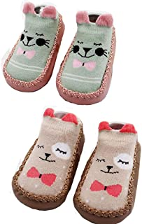 2 pares de calcetines antideslizantes para interior de 0 a 24 meses