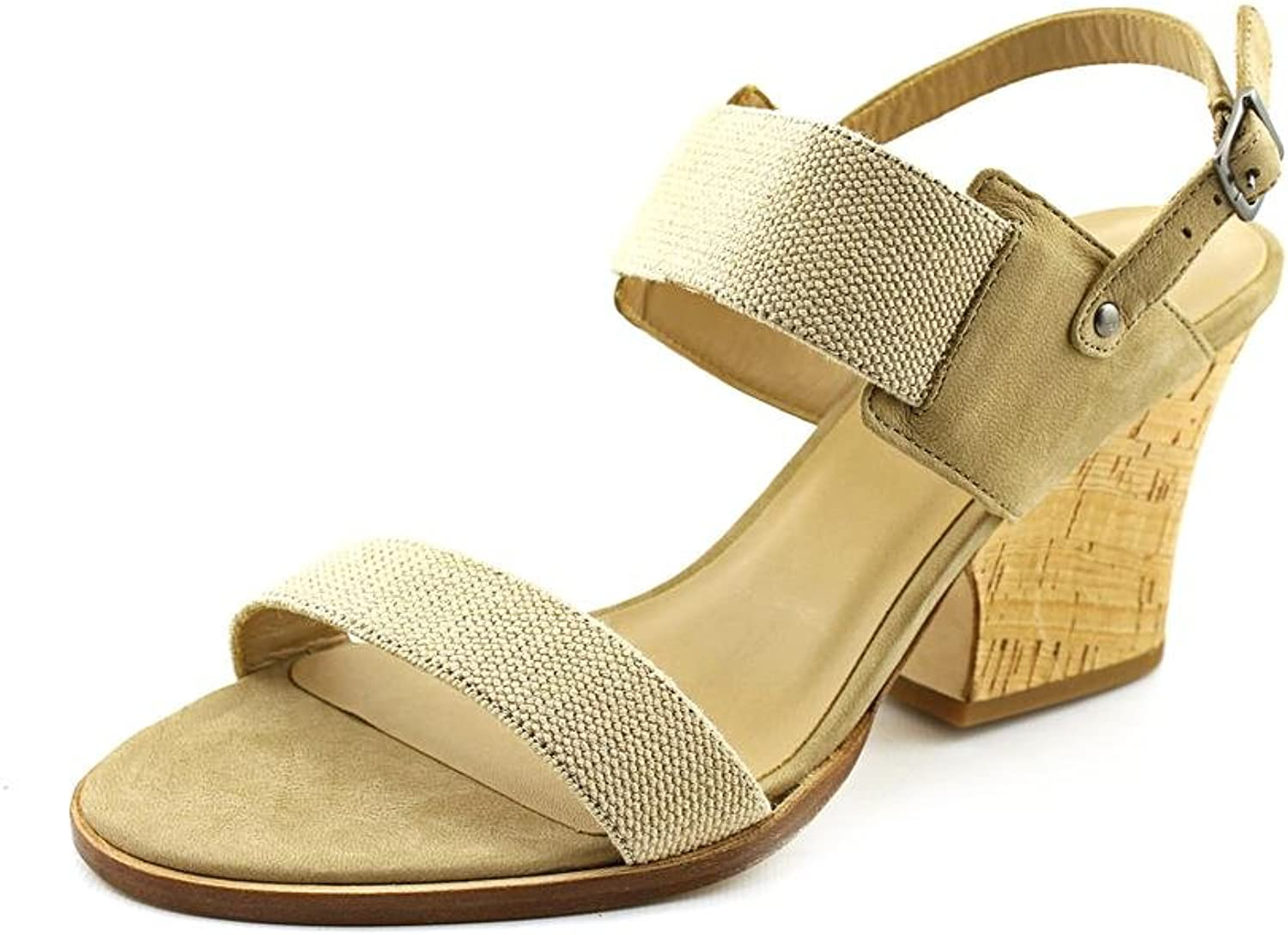 Eileen Fisher Plex Womens US Size 9 Nude Leather Wedge Sandals shoes