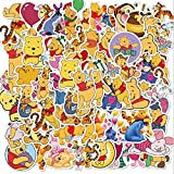 50pcs Winnie the Pooh Stickers Waterproof Skateboard Travel Suitcase Phone Laptop Luggage Stickers Cute Kids Girl Toys