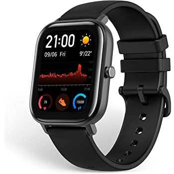 Amazfit GTS Smartwatch Fitness and Activities Tracker with Built-in GPS,5ATM Waterproof,Heart Rate, Music, Smart Notificatons (Black)