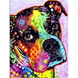 Kaliosy DIY 5D Diamond Painting by Number Kits Painting Dog, Paint with Diamonds Arts Canvas Wall Decor 30X40cm 12X16inch (X28970)