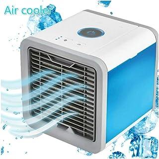 WW Mini Aire Acondicionado Refrigerador de Espacio Personal Ventilador de Escritorio LED portátil Velocidad Ultra silencioso
