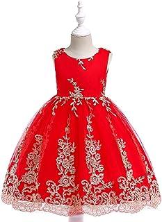 Vestido de princesa de las niñas Del vestido de partido de la falda de la princesa bordó el vestido de niños vestidos de f...
